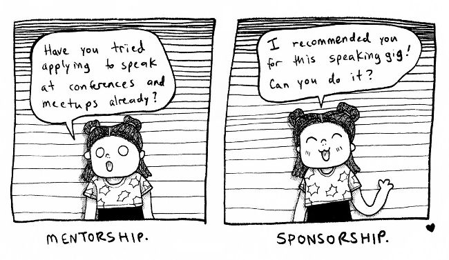 The difference between mentorship and sponsorship